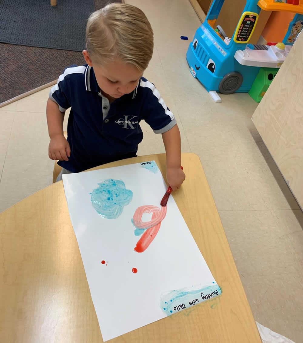 Preschool Child Painting